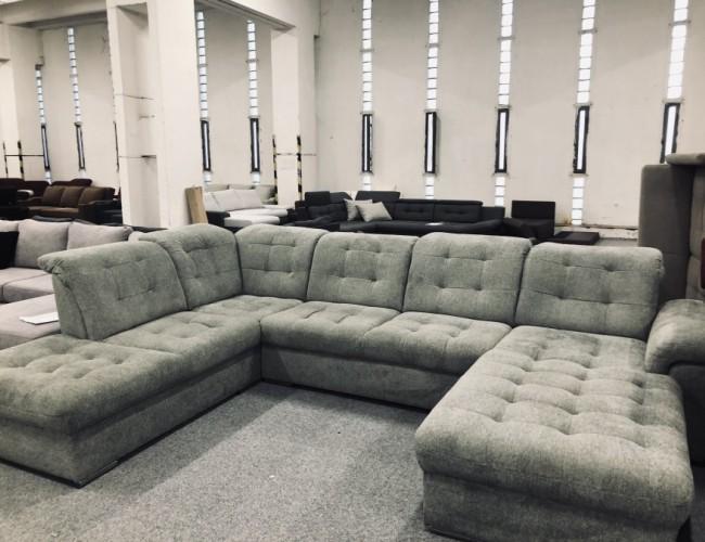 Bilbao U alakú szürke kanapé