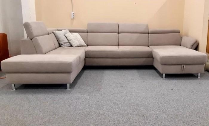 Avignon U form német kanapé - Bézs kanapéágyak