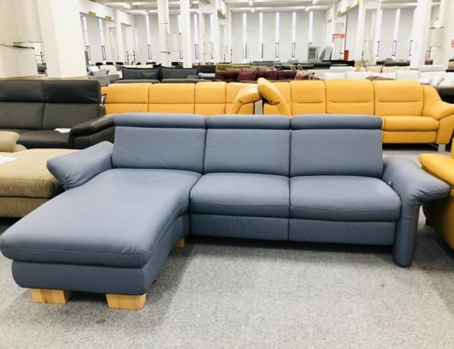 Lido kék kanapé bőrből