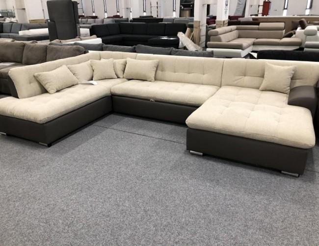 Caracas U alakú ágyazható kanapé
