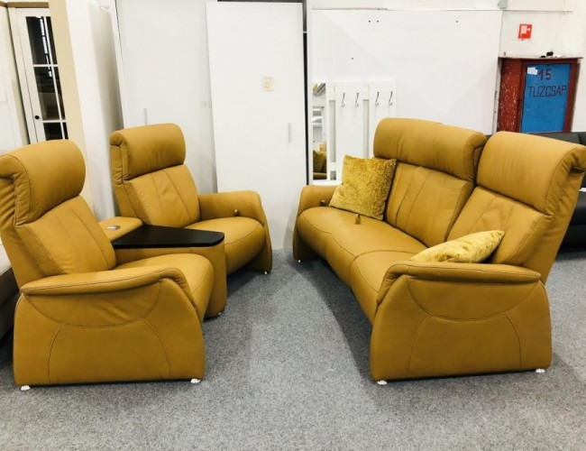 Magic relax valódi bőr kanapé