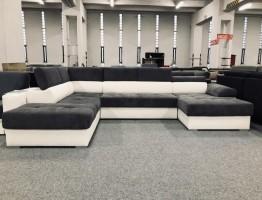 Aurora U formájú ágyazható kanapé