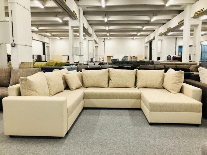 Maximo U formájú ágyazható ülőgarnitúra - Bézs kanapéágyak