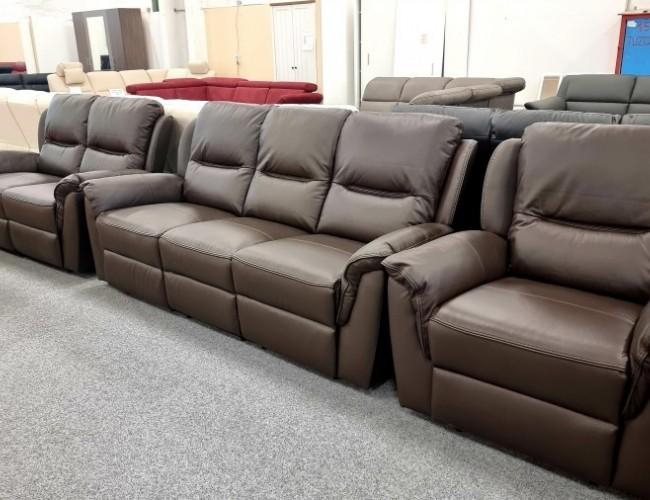 Buffalo Barna Bőr Relax kanapé 3-2-1 szettben