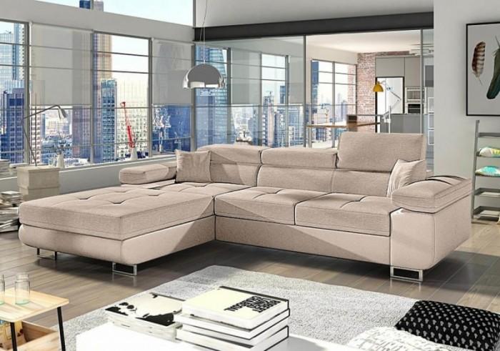 Anni modern sarokülő szövetből - Luxus kanapé