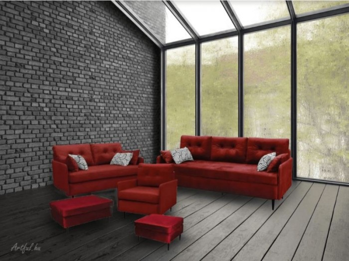 Atala 2-es fix kanapé -