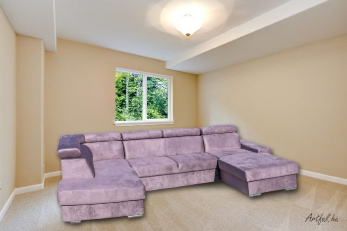 Elemento U formájú kanapé - Luxus kanapé